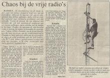 Artikel: Chaos bij de vrije radio's