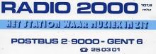 Radio 2000 Gent