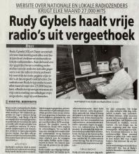 Artikel: Rudy Gybels haalt vrije radio's uit vergeethoek.